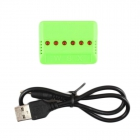 Le chargeur mutliple 6 batteries est fourni avec son câble USB