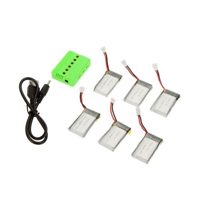 Permet de charger jusqu'à 6 batteries simultanément