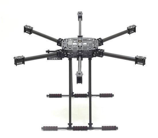 Châssis Hexacoptère ZD850 vue de profil