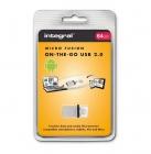 Clé USB 2.0 OTG Micro Fusion 64 Go - Integral