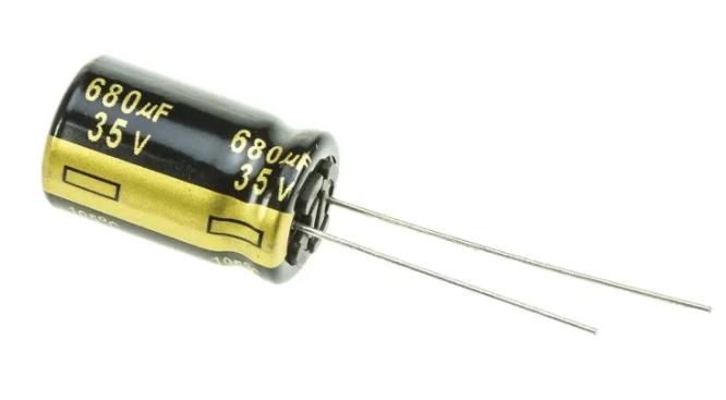 Condensateur Panasonic 680μF 35V c.c. série FM Radial