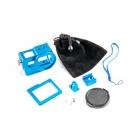 Contenu du caisson métal couleur bleu pour GoPro Hero5 Black