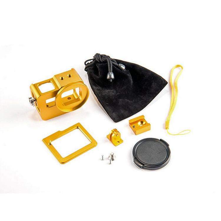 Contenu du caisson métal couleur jaune pour GoPro Hero5 Black