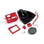 Contenu du caisson métal couleur rouge pour GoPro Hero5 Black