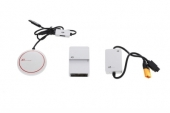 Contenu du système de stabilisation GPS DJI A3 : antenne GPS Pro, contrôleur de vol A3 et PMU.