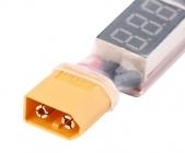 Convertisseur LiPo 2S-6S vers USB vue du connecteur XT60