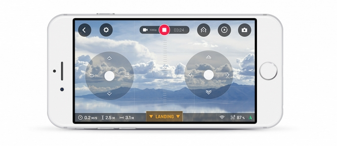 Application FreeFlight Pro sur un smartphone