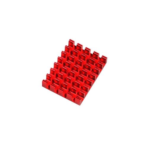 Dissipateur en aluminum rouge