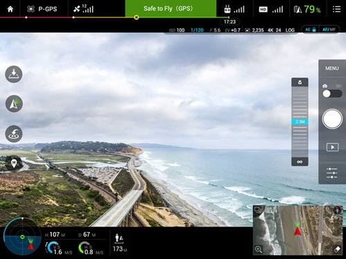 Application DJI GO pour drone Phantom 3