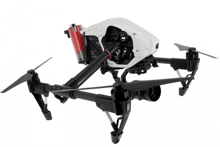 DJI Inspire 1 RAW homologué S1, S2 & S3 avec parachute Mars