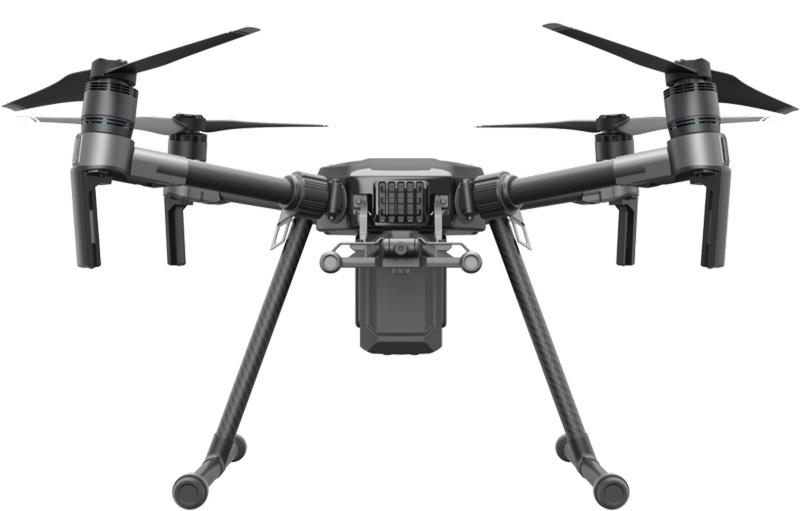 Drone DJI Matrice 200 - vue de face