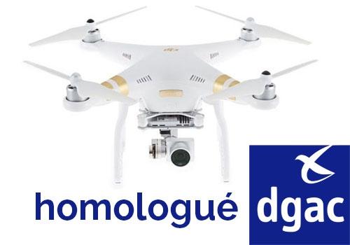 DJI Phantom 3 4K homologué S1, S2 & S3