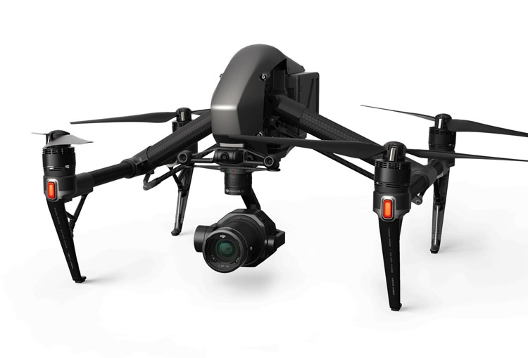 DJI Zenmuse X7 installée sur le drone DJI Inspire 2