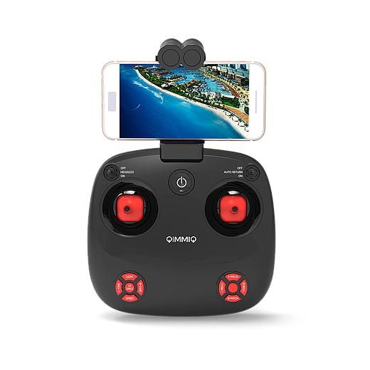 La radio du Blimp permet de fixer votre smartphone pour visualiser le retour vidéo Wi-Fi