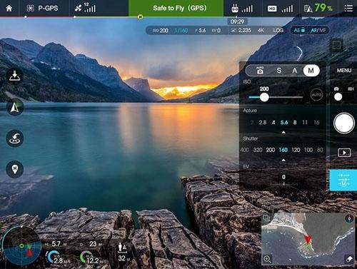 Utilisez l\'application DJI GO pour contrôler toutes les fonctions du drone et de sa caméra.