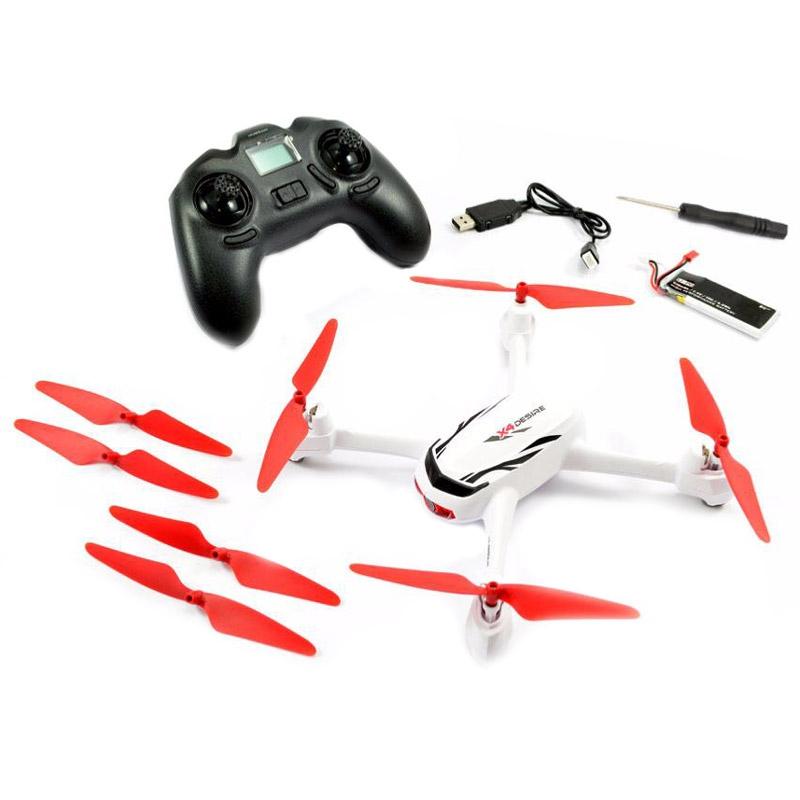 Le Hubsan X4 H502E Desire est fourni avec tous ses accessoires : batteries, hélices, chargeur