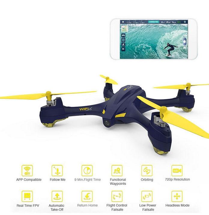 Drone Hubsan X4 H507A avec retour vidéo sur smartphone