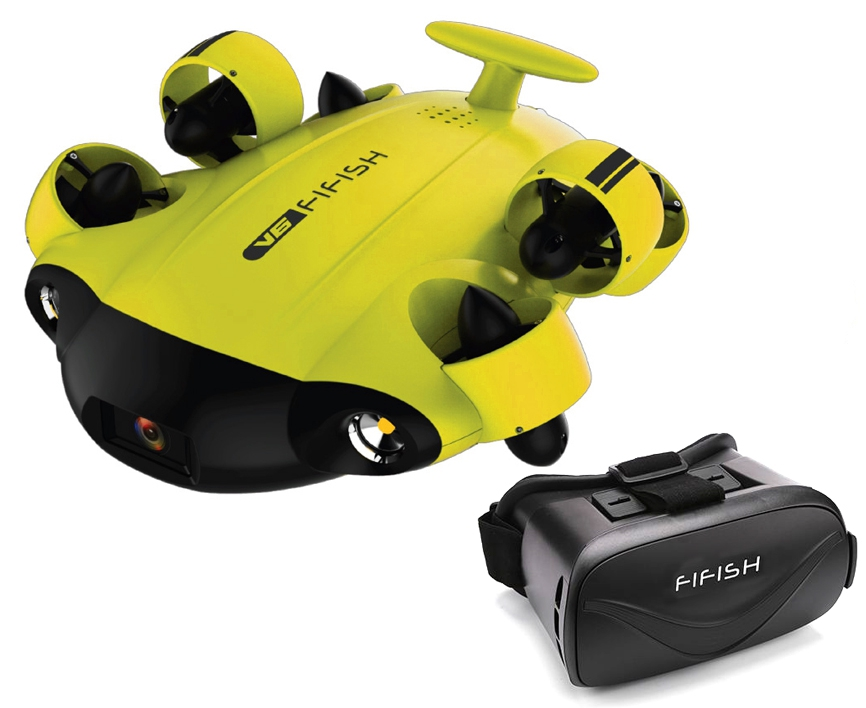 Drone sous-marin Fifish V6 & Casque Head Tracking Offert - Qysea