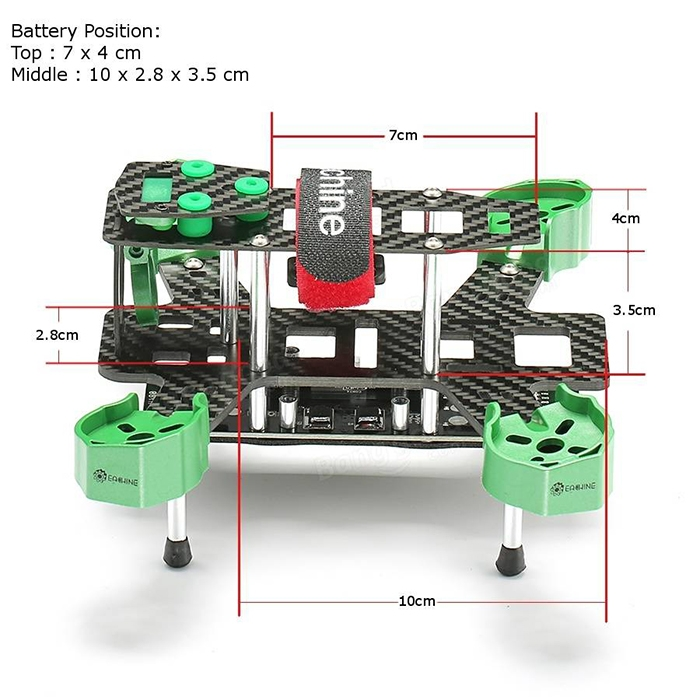 Eachine Falcon 180 ARF Dimension