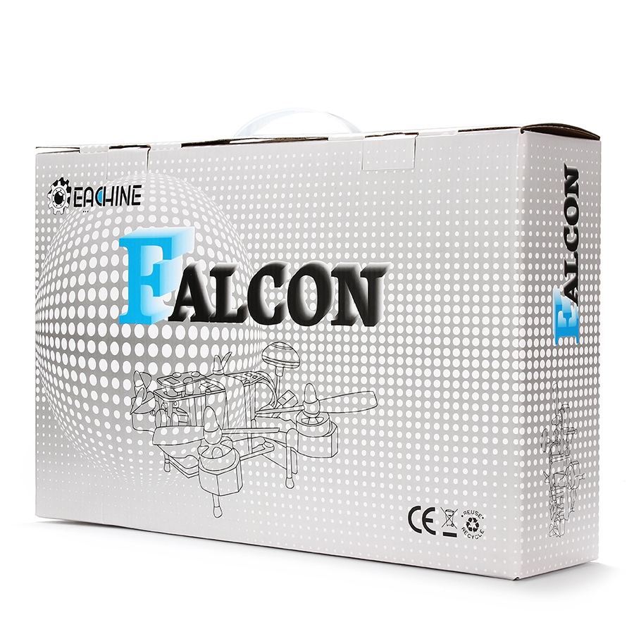 Eachine Falcon 210 Pro RTF dans sa boite de rangement