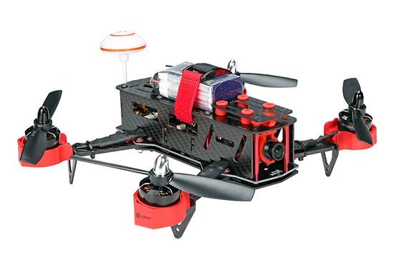 Drone racer Eachine Falcon 250 (ARF) vu de biais