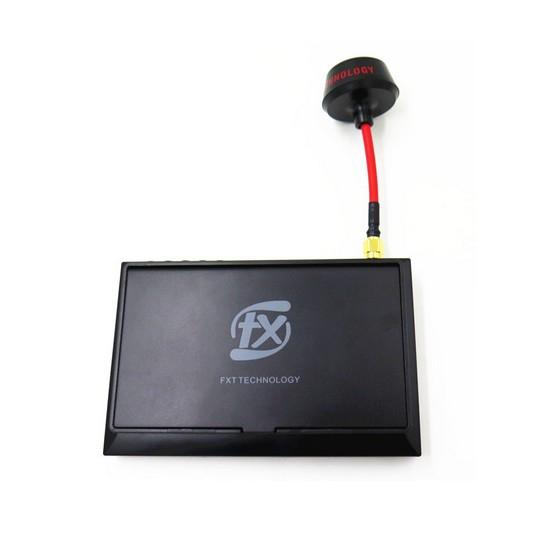 """Ecran LCD 4.3"""" 5.8GHz F408 FXT avec pare-soleil replié - vue de face"""