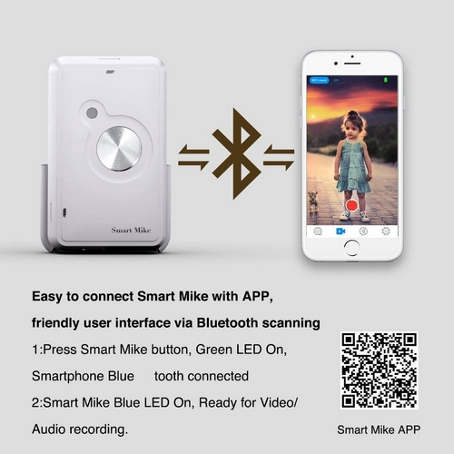 Enregistreur audio sans fil Smart Mike Pro
