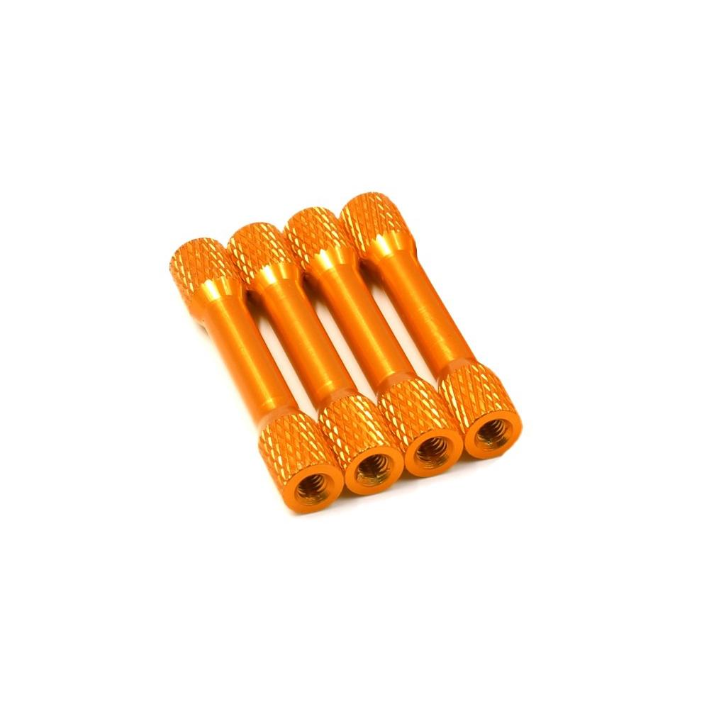 Entretoise molletée M3x25mm en Aluminium x4