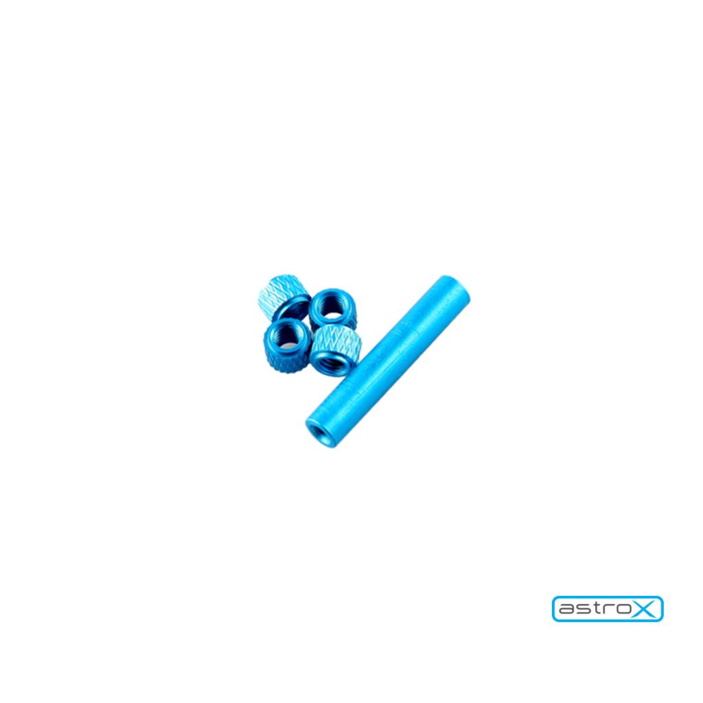 Entretoises Alu + Nylon pour AstroX Q130