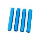 Entretoises bleues anodisées 35mm - Lot de 4
