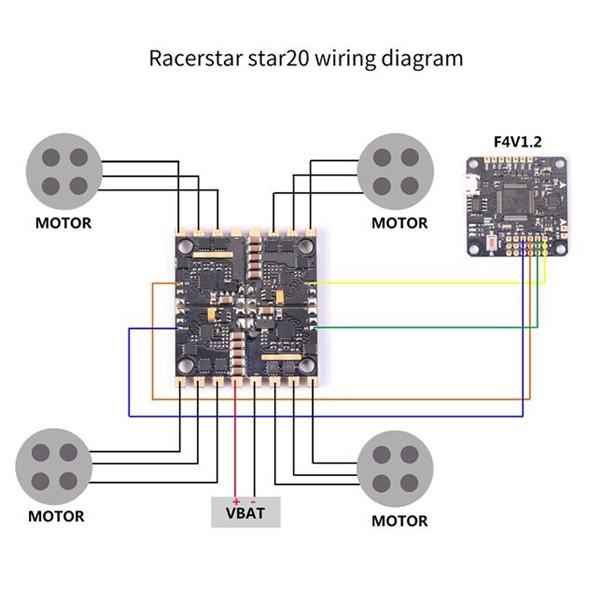 ESC Racerstar Star20 20A Schéma de câblage