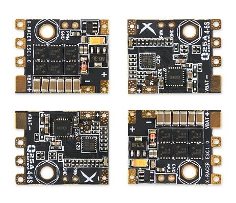 ESC X-Racer Quadrant 25A 4-6S BLHeli_S vue par quatre