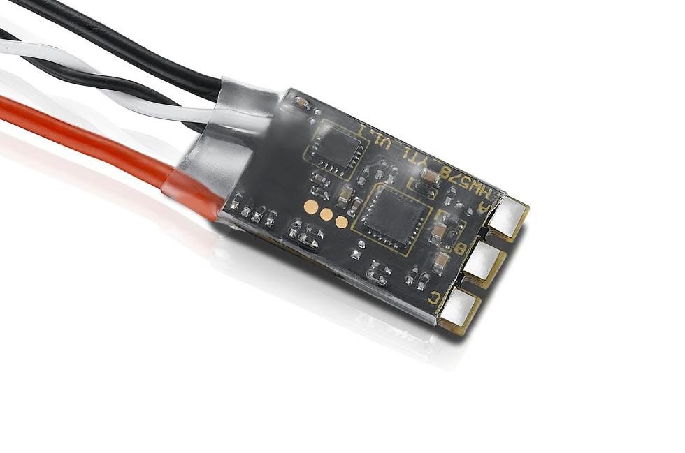ESC XRotor 30A Micro 2-4S BLHeli_S Hobbywing vue de dessous