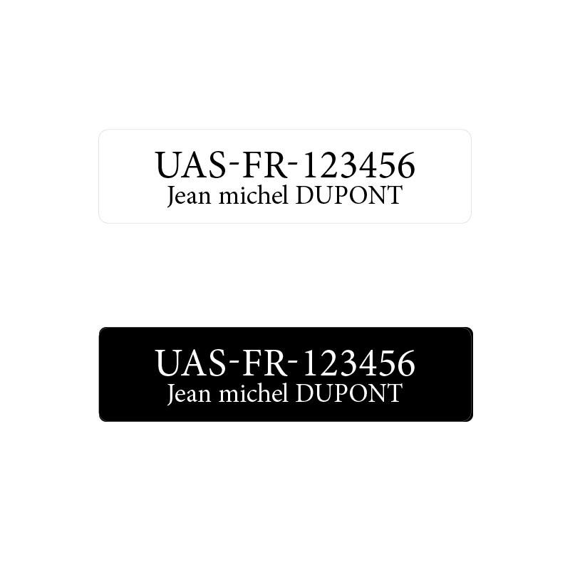 Étiquette d\'enregistrement drones  - norme 2021
