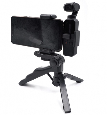 Extended Mount Bracket + Phone Clip Holder + Tripod for DJI OSMO Pocket