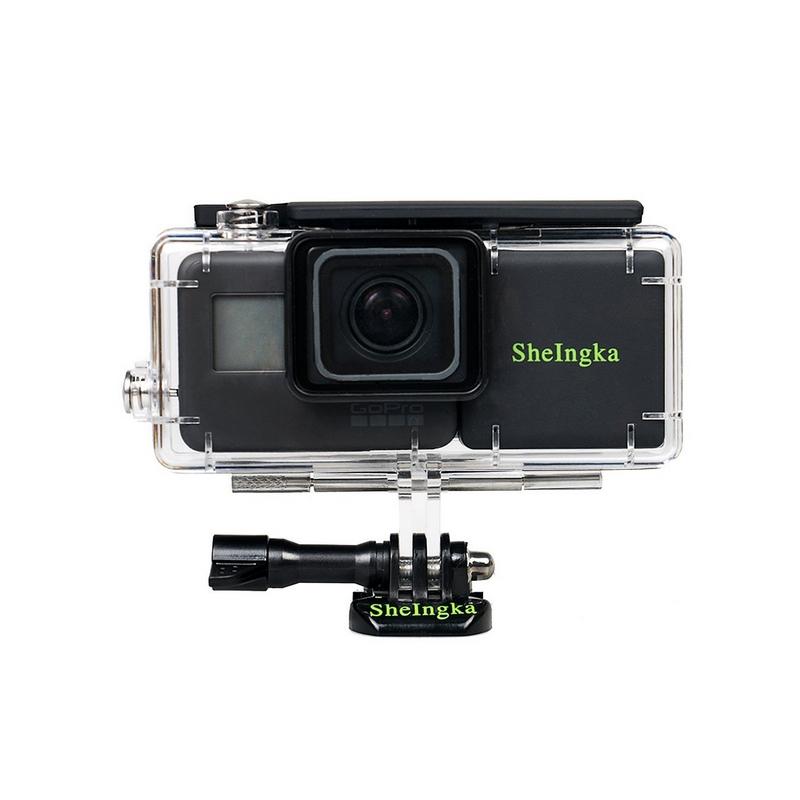 Extension de batterie STS pour GoPro 5 et 6 + caisson - vu de face