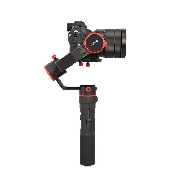 Stabilisateur Feiyu a1000 avec appareil photo DSLR - vue de côté