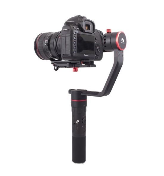 Stabilisateur Feiyu a2000 pour appareils photo et caméras - vue de biais