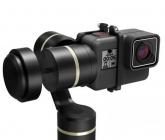 Zoom sur le stabilisateur Feiyu G5 avec caméra GoPro Hero5 Black