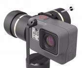 Zoom sur une GoPro Hero5 Black installée sur le stabilisateur Feiyu G5
