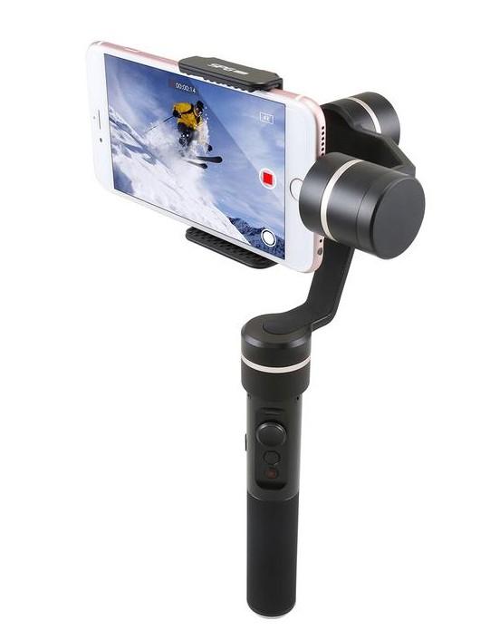 Stabilisateur Feiyu SPG Live avec smartphone en position horizontale