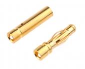 Fiche Bullet Gold 3.5mm Mâle et femelle