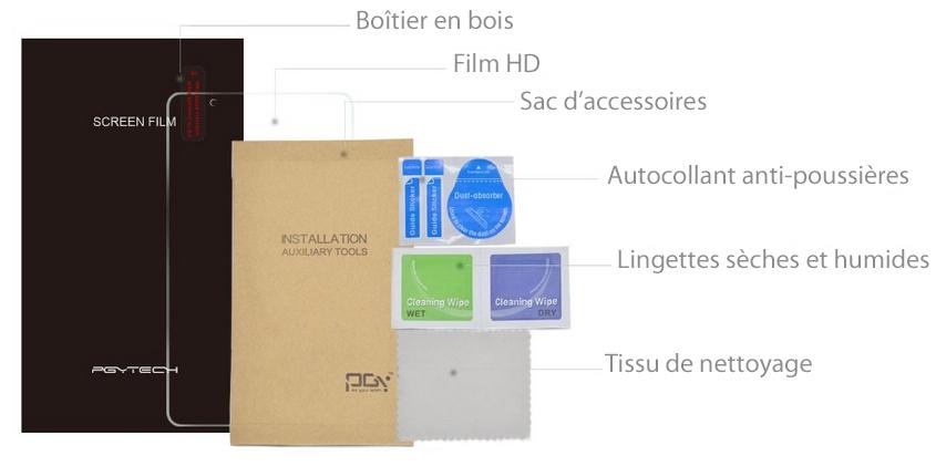 Film protection écran 5.5 pouces DJI Phantom 4 Pro+