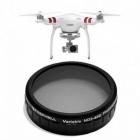 Filtre ND2-400 pour Phantom 3 Standard vue de face drone et filtre