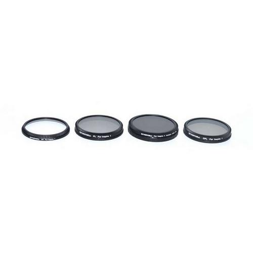 4 filtres pour DJI Inspire 1 et OSMO vue de face
