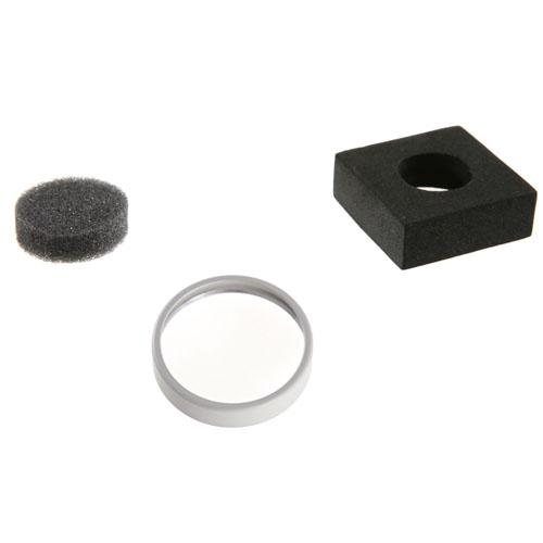 Contenu du Filtre UV DJI pour Phantom 4 : filtre uv, boîtier de proctetion et mousse.