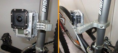 Fixation aluminium cadre vélo pour GoPro