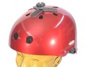 Fixation casque en aluminium incurvable pour caméra embarquée de type GoPro