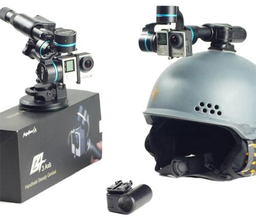 Fixation pince casque pour stabilisateur 3 axes Feiyu G3 et G4