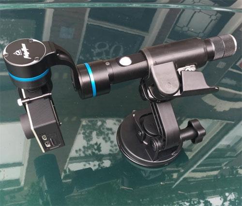 Fixation casque, voiture ou tout autre surface via les embases GoPro adhésives